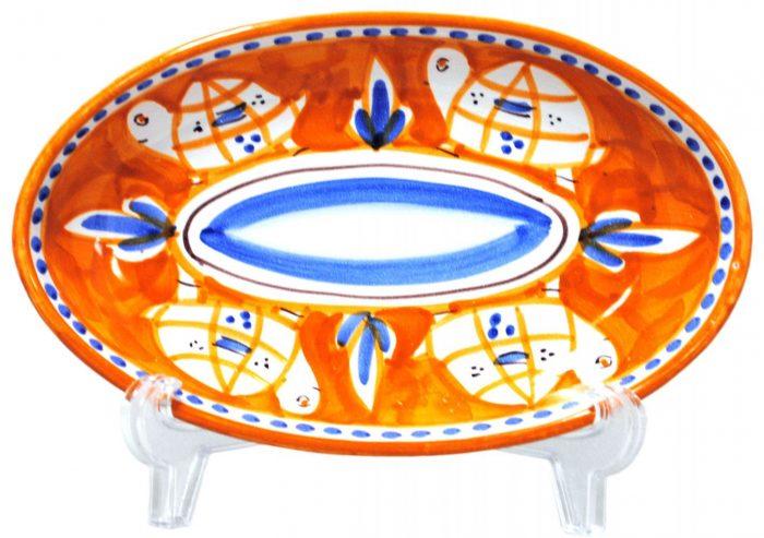 楕円皿 カメ(26cmサイズ)